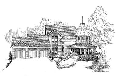 5-Bedroom, 3775 Sq Ft Contemporary House Plan - 145-1007 - Front Exterior