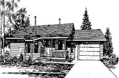 3-Bedroom, 1499 Sq Ft Ranch Home Plan - 145-1008 - Main Exterior