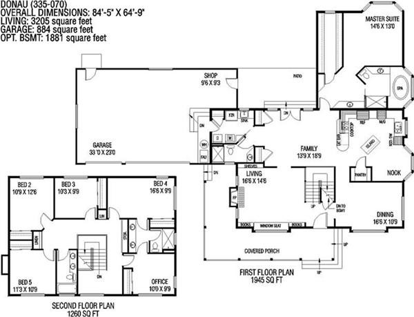 145-1009 house plan first floor