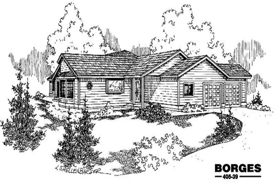 Main image for house plan # 6372
