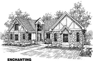 4-Bedroom, 3594 Sq Ft Transitional Home Plan - 145-1014 - Main Exterior