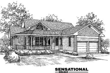 3-Bedroom, 2125 Sq Ft Country Home Plan - 145-1015 - Main Exterior