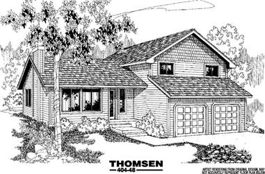 3-Bedroom, 1948 Sq Ft Traditional House Plan - 145-1018 - Front Exterior