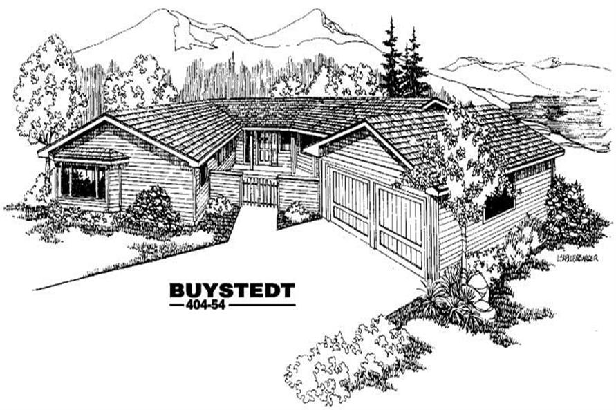 3-Bedroom, 2658 Sq Ft Ranch House Plan - 145-1021 - Front Exterior