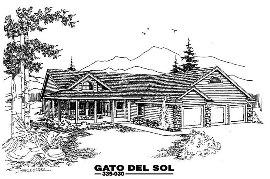 3-Bedroom, 2221 Sq Ft Country Home Plan - 145-1023 - Main Exterior