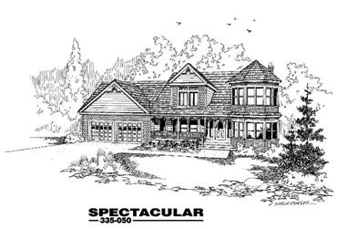3-Bedroom, 2397 Sq Ft Country House Plan - 145-1025 - Front Exterior