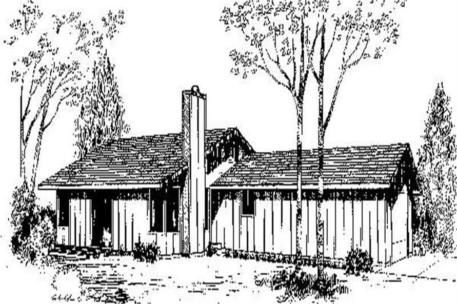 3-Bedroom, 1404 Sq Ft Ranch Home Plan - 145-1030 - Main Exterior