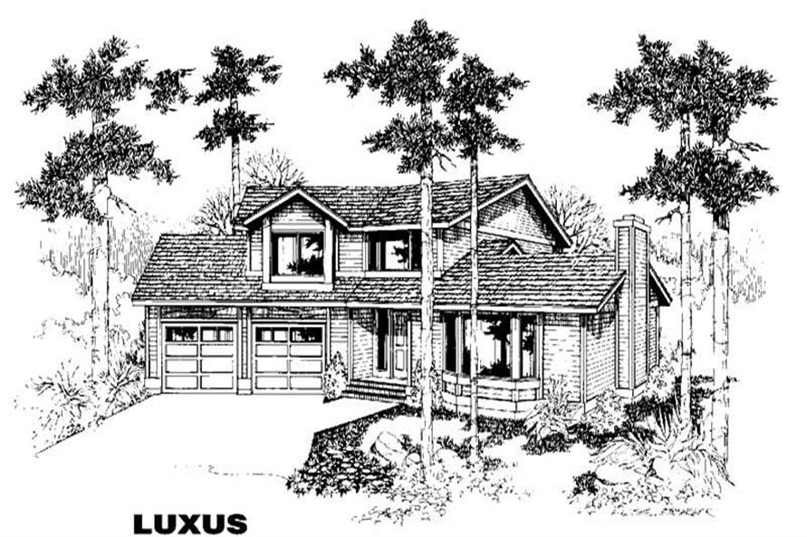 Main image for house plan # 3844