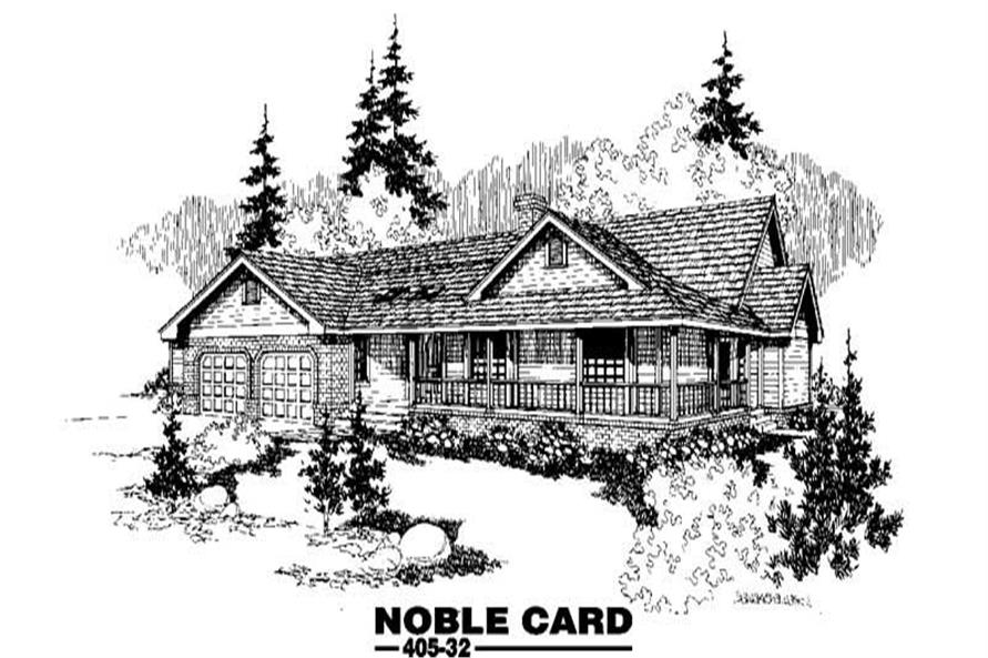 3-Bedroom, 2508 Sq Ft Country Home Plan - 145-1037 - Main Exterior