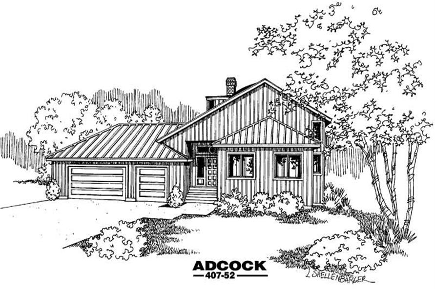 Main image for house plan # 6625