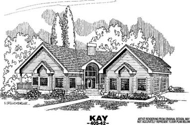 4-Bedroom, 3556 Sq Ft Country Home Plan - 145-1043 - Main Exterior