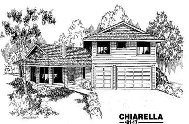 4-Bedroom, 2793 Sq Ft Home Plan - 145-1045 - Main Exterior