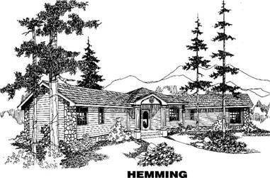 3-Bedroom, 2196 Sq Ft Home Plan - 145-1046 - Main Exterior