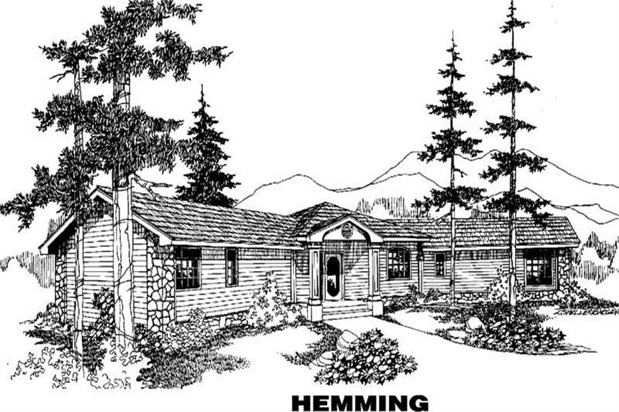 Main image for house plan # 3888