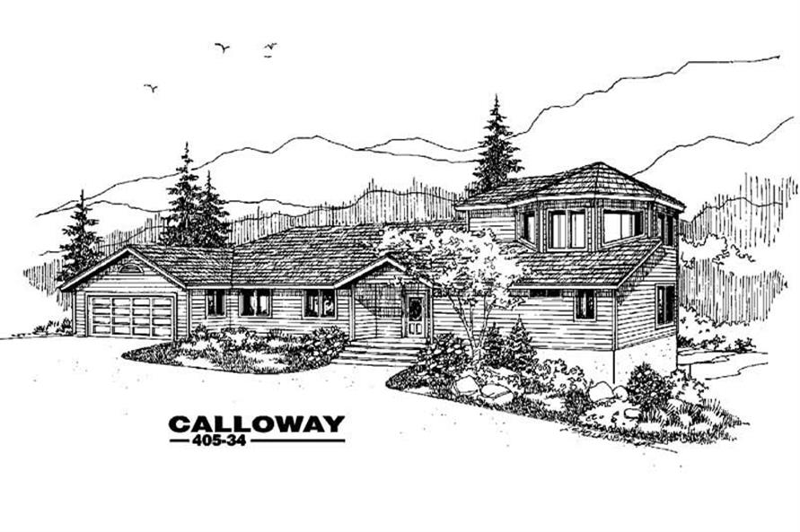 3-Bedroom, 1903 Sq Ft Contemporary Home Plan - 145-1049 - Main Exterior