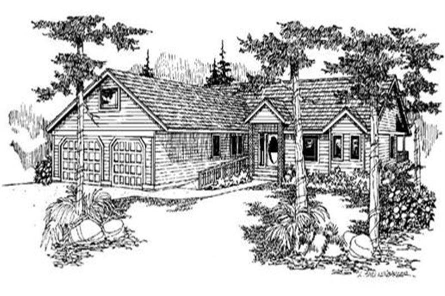 6-Bedroom, 2233 Sq Ft Colonial House Plan - 145-1051 - Front Exterior