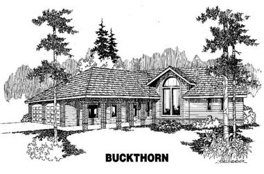 3-Bedroom, 2249 Sq Ft Contemporary House Plan - 145-1052 - Front Exterior