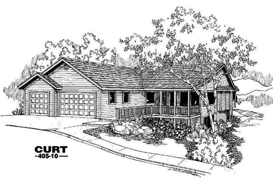 4-Bedroom, 3572 Sq Ft House Plan - 145-1057 - Front Exterior