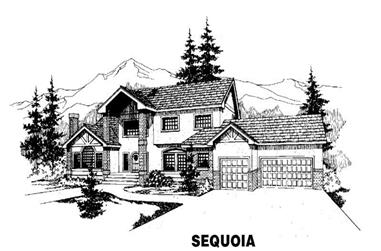 6-Bedroom, 3520 Sq Ft Luxury House Plan - 145-1060 - Front Exterior
