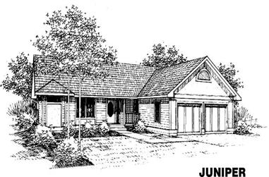 2-Bedroom, 1428 Sq Ft Ranch House Plan - 145-1062 - Front Exterior