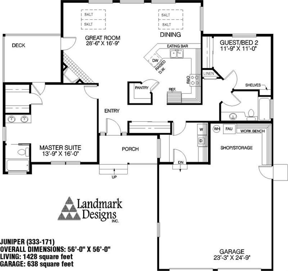 Large Images For House Plan 145 1062