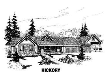 4-Bedroom, 3207 Sq Ft Ranch House Plan - 145-1063 - Front Exterior