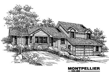3-Bedroom, 1699 Sq Ft Contemporary House Plan - 145-1064 - Front Exterior