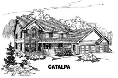 5-Bedroom, 3545 Sq Ft Country House Plan - 145-1065 - Front Exterior