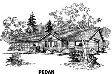 3-Bedroom, 1574 Sq Ft House Plan - 145-1067 - Front Exterior