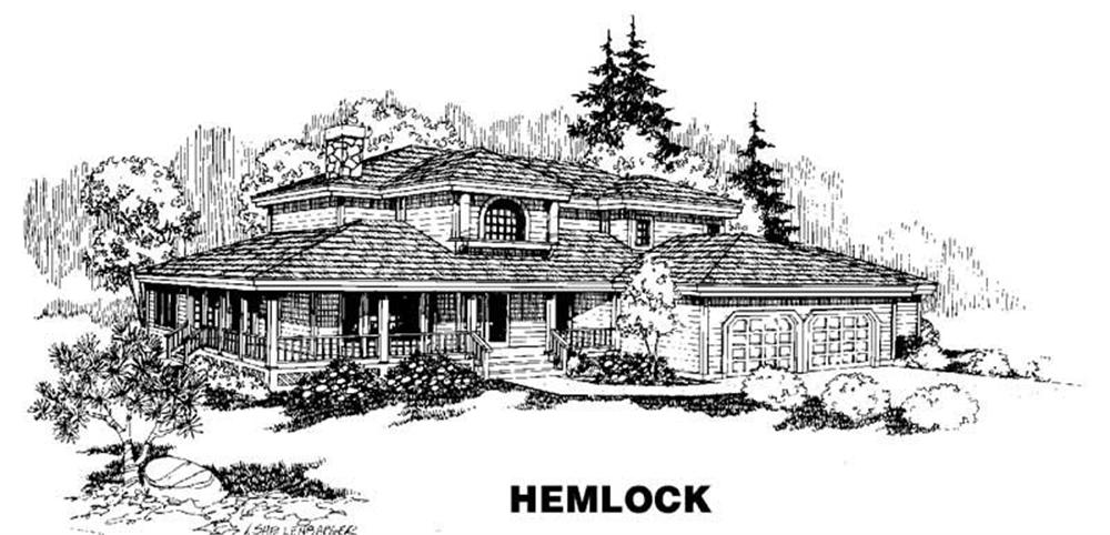 Ranch home (ThePlanCollection: Plan #145-1068)