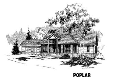 4-Bedroom, 2570 Sq Ft House Plan - 145-1073 - Front Exterior
