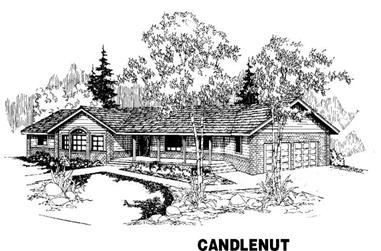 3-Bedroom, 2465 Sq Ft House Plan - 145-1074 - Front Exterior