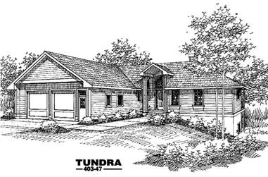 3-Bedroom, 2110 Sq Ft Home Plan - 145-1076 - Main Exterior