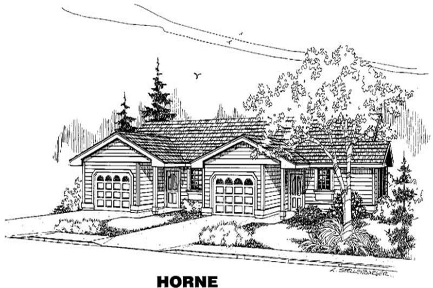 4-Bedroom, 1719 Sq Ft Multi-Unit Home Plan - 145-1077 - Main Exterior