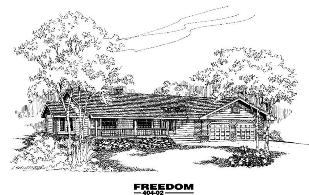 Ranch home (ThePlanCollection: Plan #145-1078)