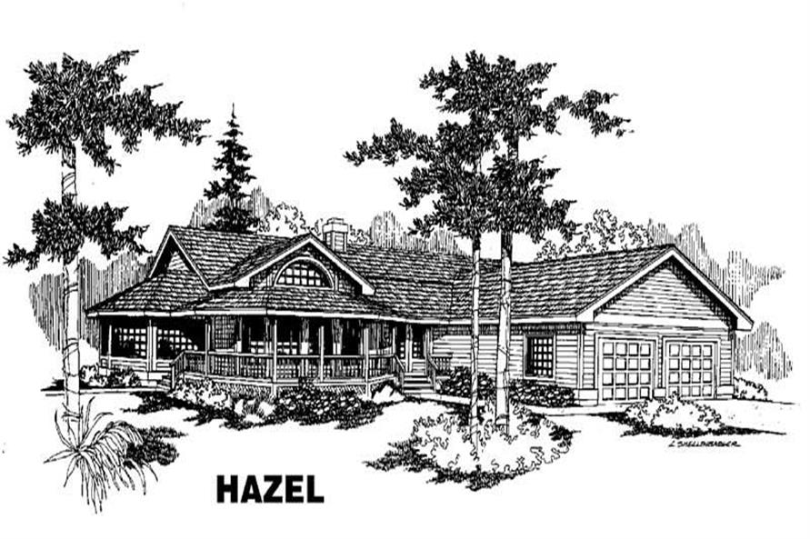 3-Bedroom, 2344 Sq Ft House Plan - 145-1079 - Front Exterior