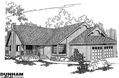 2-Bedroom, 1965 Sq Ft Country House Plan - 145-1085 - Front Exterior