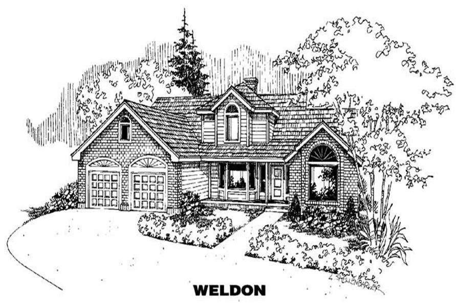 4-Bedroom, 2659 Sq Ft Home Plan - 145-1086 - Main Exterior