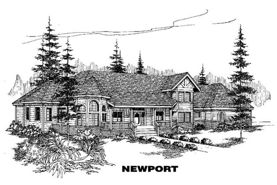 5-Bedroom, 3489 Sq Ft Farmhouse Home Plan - 145-1087 - Main Exterior