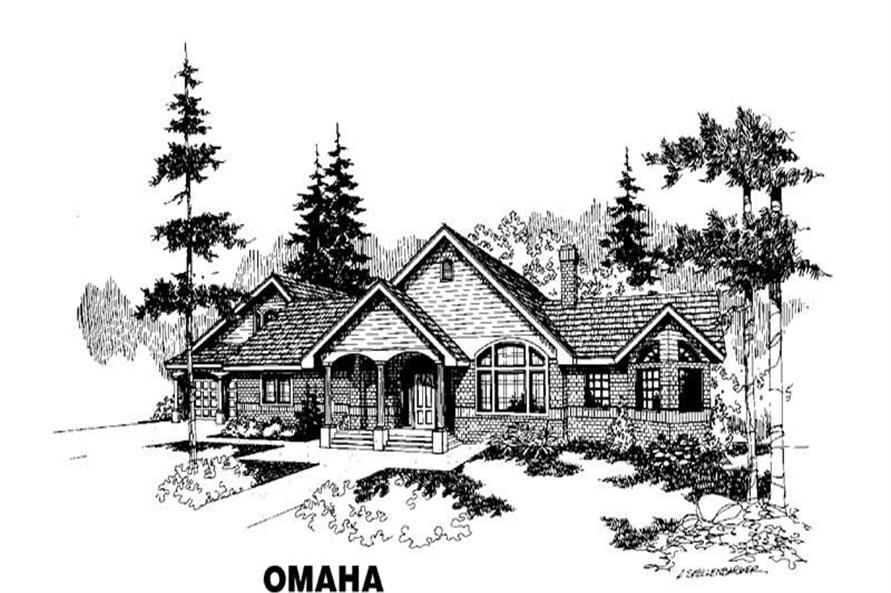 4-Bedroom, 2080 Sq Ft Ranch Home Plan - 145-1089 - Main Exterior