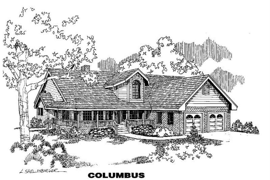 Main image for house plan # 3582