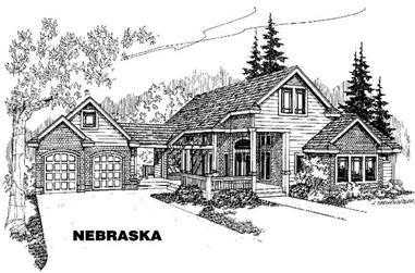 4-Bedroom, 2499 Sq Ft Country Home Plan - 145-1094 - Main Exterior