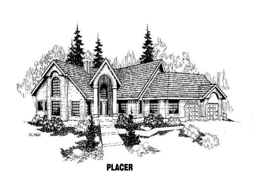 4-Bedroom, 2556 Sq Ft Ranch Home Plan - 145-1096 - Main Exterior