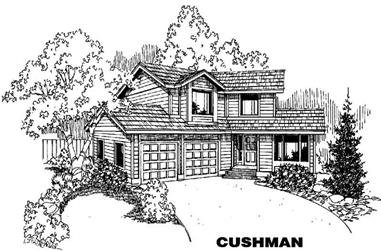 3-Bedroom, 1861 Sq Ft House Plan - 145-1097 - Front Exterior