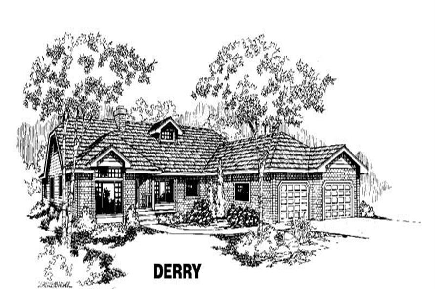 5-Bedroom, 2606 Sq Ft Ranch Home Plan - 145-1099 - Main Exterior