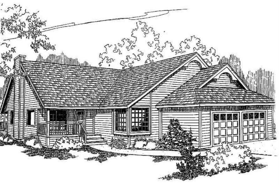 3-Bedroom, 1630 Sq Ft Ranch Home Plan - 145-1100 - Main Exterior