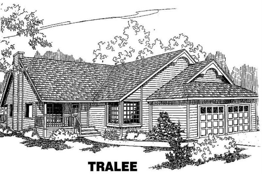 3-Bedroom, 1630 Sq Ft Small House Plans - 145-1100 - Main Exterior