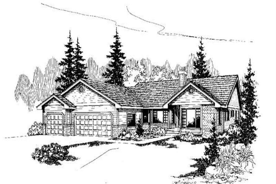 3-Bedroom, 2385 Sq Ft Ranch Home Plan - 145-1101 - Main Exterior