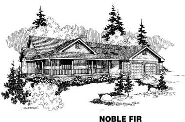 3-Bedroom, 2508 Sq Ft Ranch House Plan - 145-1104 - Front Exterior