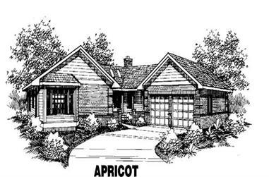 4-Bedroom, 2568 Sq Ft Ranch House Plan - 145-1106 - Front Exterior